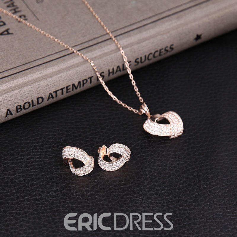 Ericdress Wedding Diamante Jewelry Set