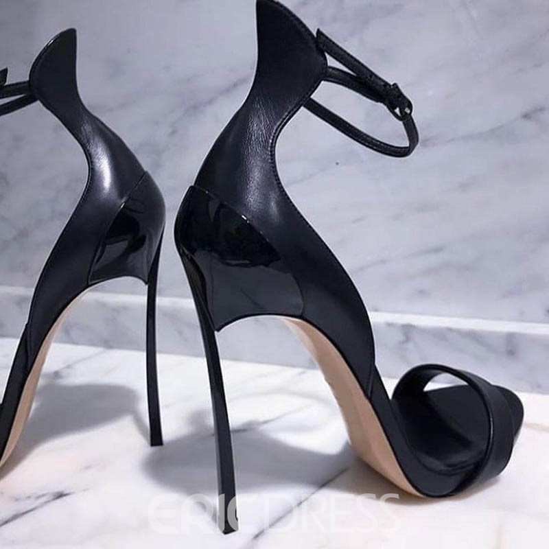 Ericdress Fashion Line-Style Buckle Stiletto Sandals