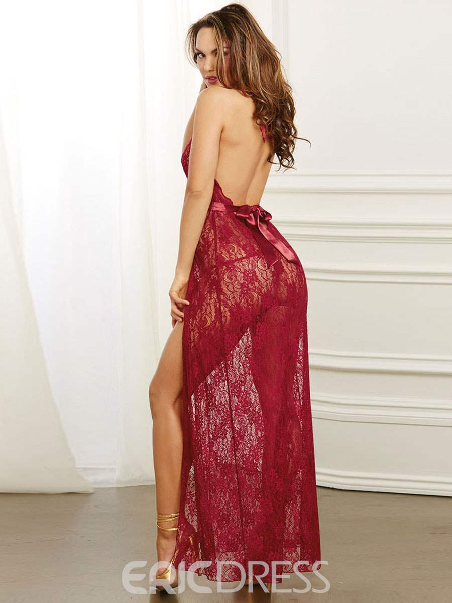 Ericdress Slit Up Backless See-Through Long Sexy Nightgown