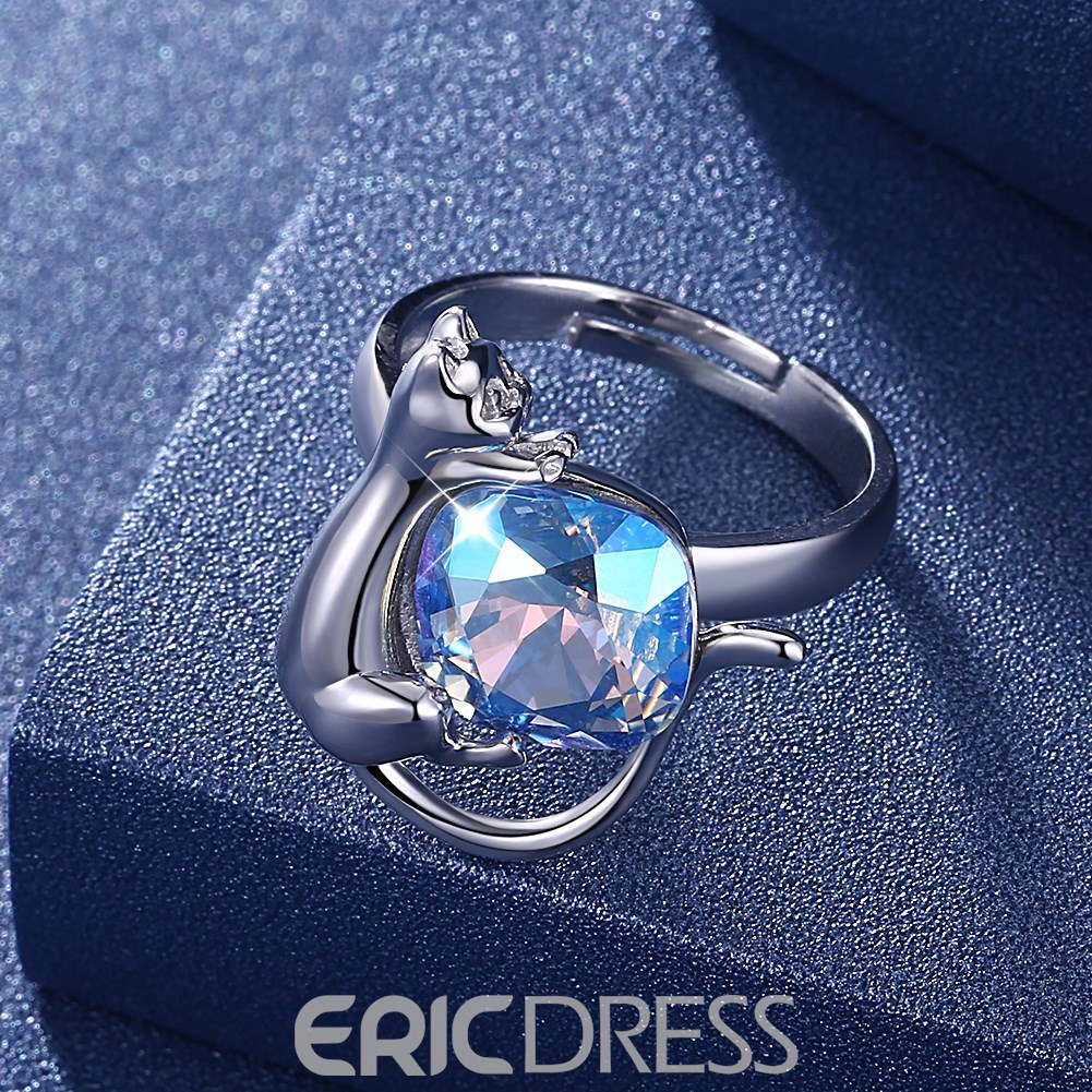 Ericdress Minimalist 925 Silver Ring