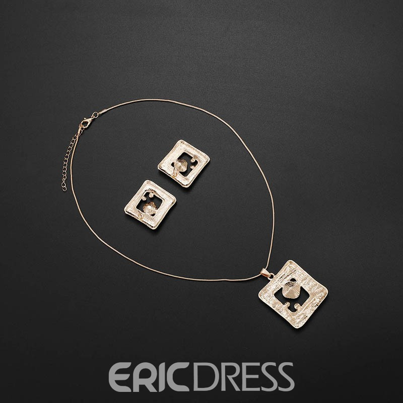Ericdress Love Poker Ruby Jewelry Set