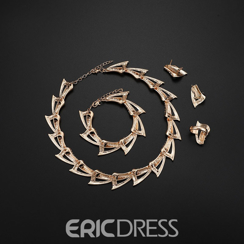 Ericdress Conch Diamante Jewelry Set