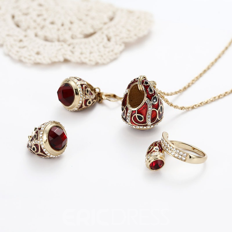 Ericdress Vintage Ruby Jewelry Sets
