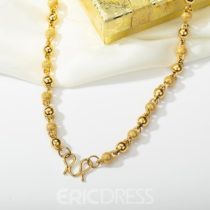 Ericdress Bronze Beads Chain Necklace
