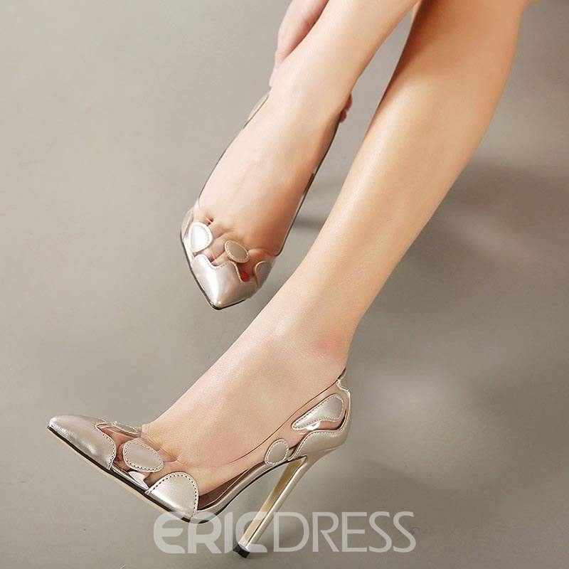 Ericdress Patchwork Color Block Stiletto Heel Pumps