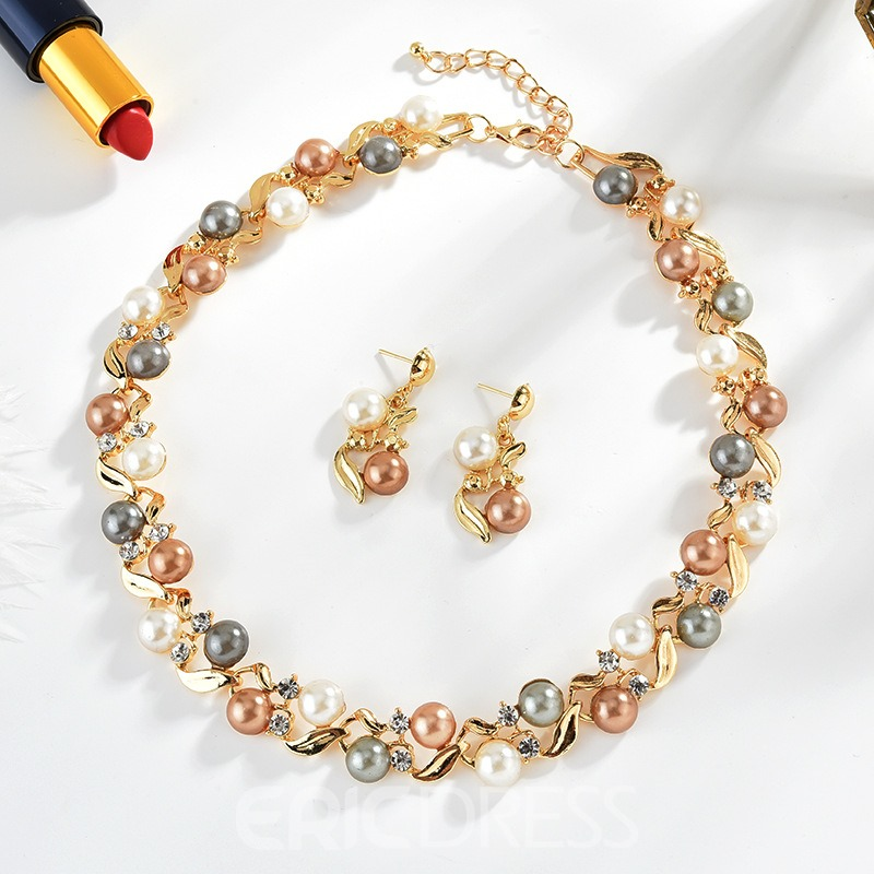 Ericdress Pearl Double Colorful Jewelry Set