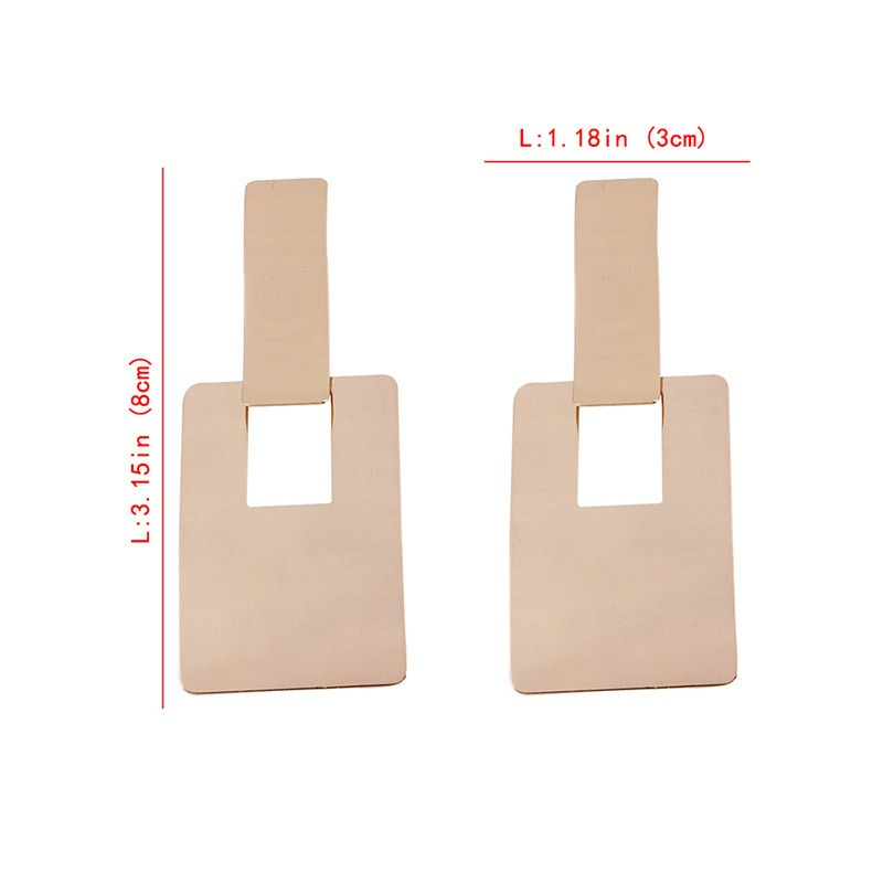 Ericdress Metal Square Fashion Earring