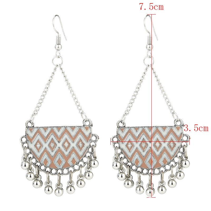 Ericdress Semicircle Tassels Drop Earrings