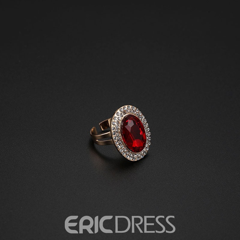 Ericdress Ellipse Ruby Jewelry Set