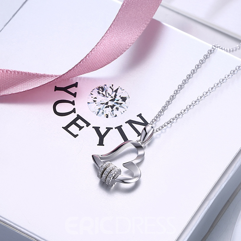 Ericdress Love Lock&You Silver Necklace