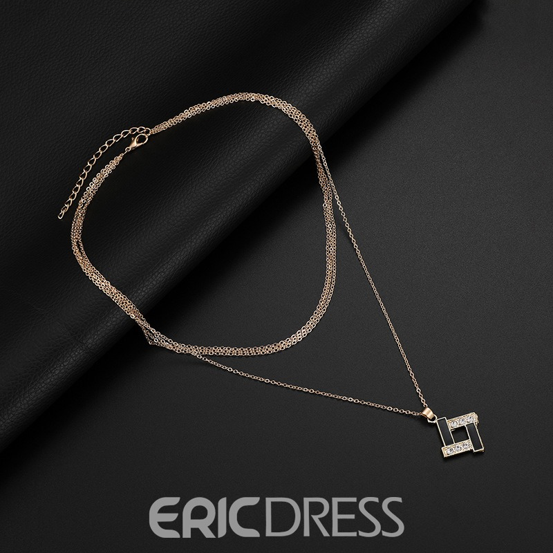 Ericdress Square Alloy Diamante Jewelry Set