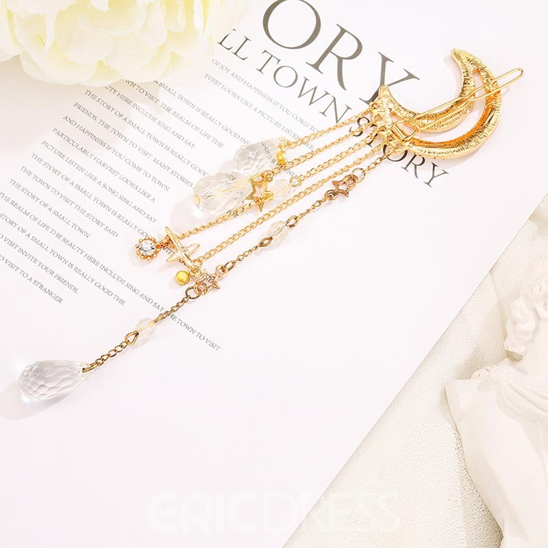 Ericdress Moon Crystal Hair Clip Accessories