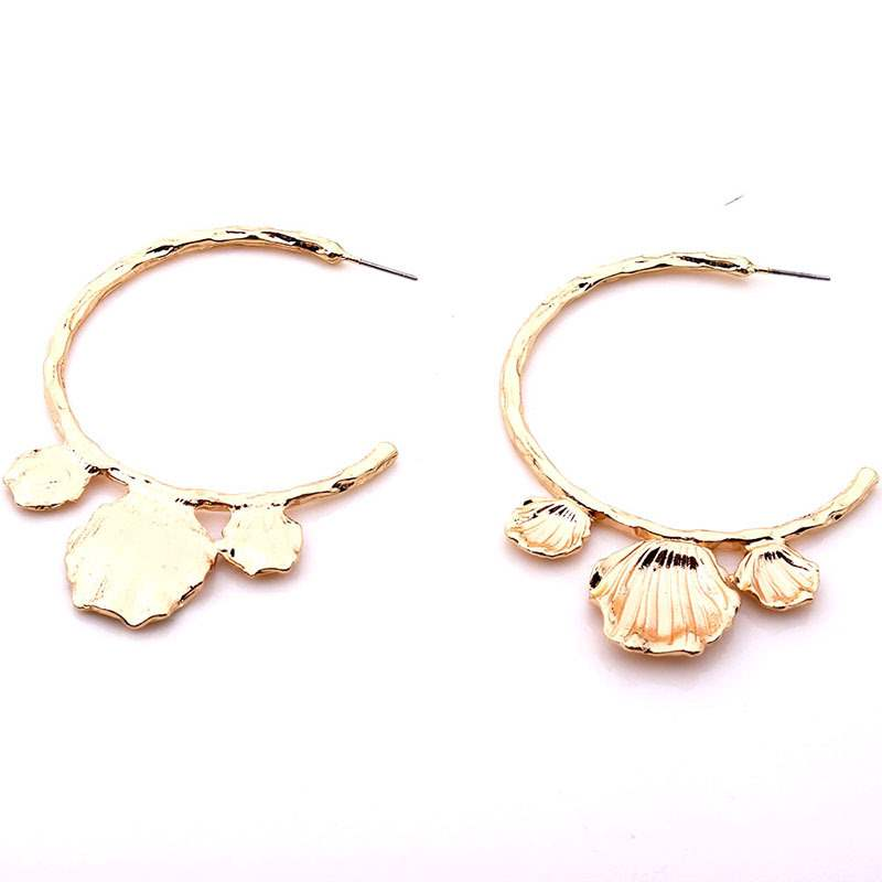 Ericdress Shell Shape Hoop Earrings