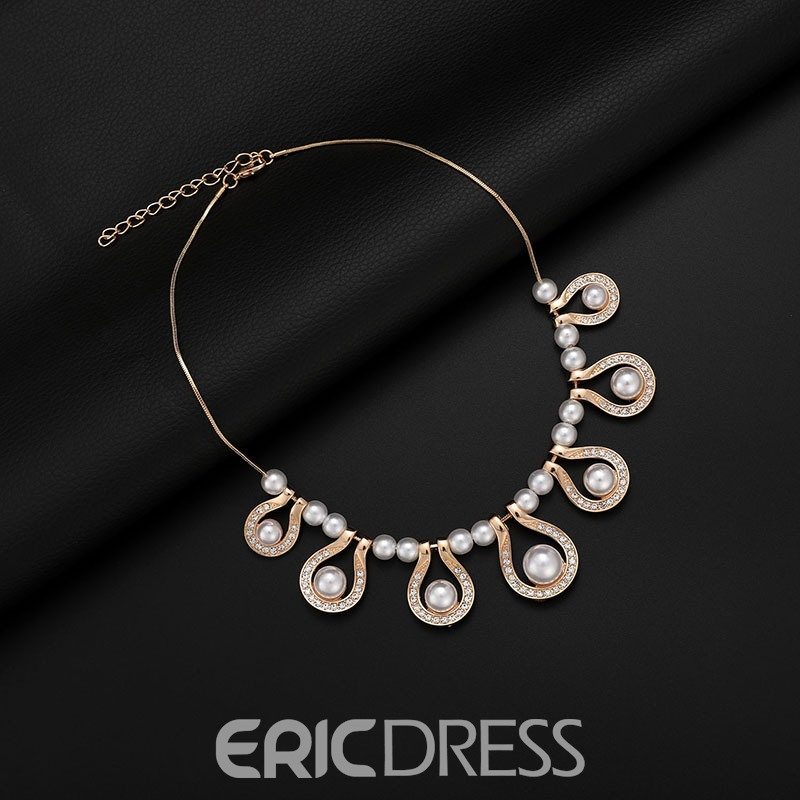Ericdress Pearl Water Drop Alloy Jewelry Set