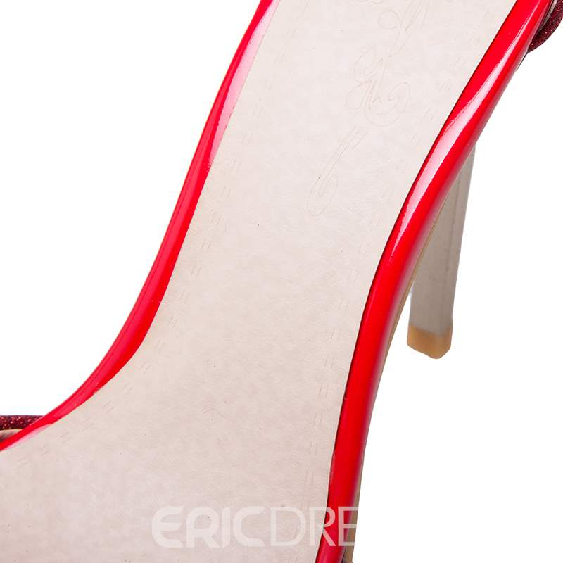 Ericdress Beads Sequin Buckle Stiletto Heel Pumps