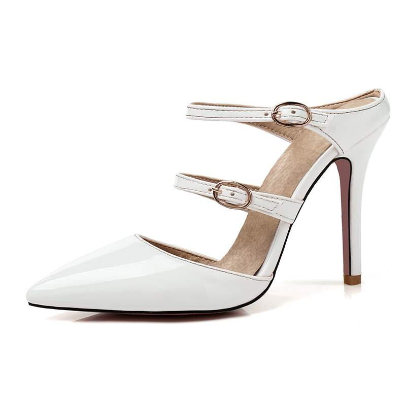 Ericdress Buckle Slip-On Stiletto Heel Mules Shoes