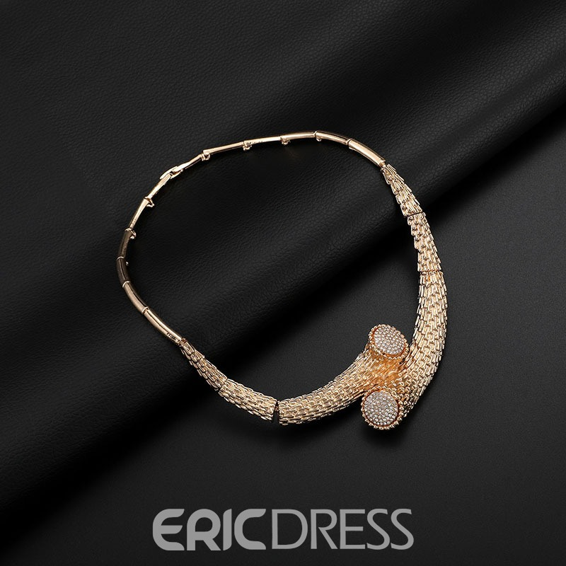 Ericdress Luxuly Diamnate Necklace