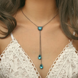 Ericdress Heart Crystal Necklace