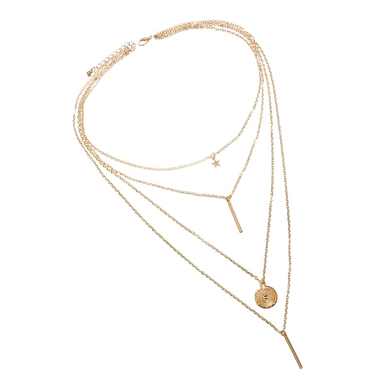 Ericdress Bar Design Layered Chain Necklace
