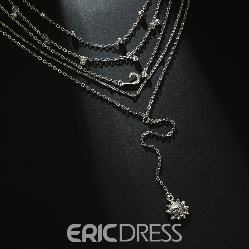 Ericdress Silver Layered Necklace