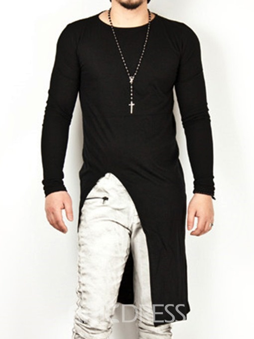 Ericdress Plain Scoop Mid-Length Slim Casual T Shirts
