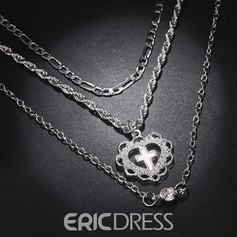 Ericdress Heart Cross Neacklace