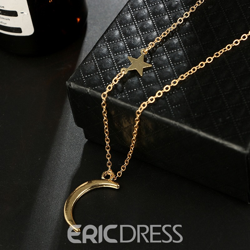 Ericdress Chic Moon Necklace