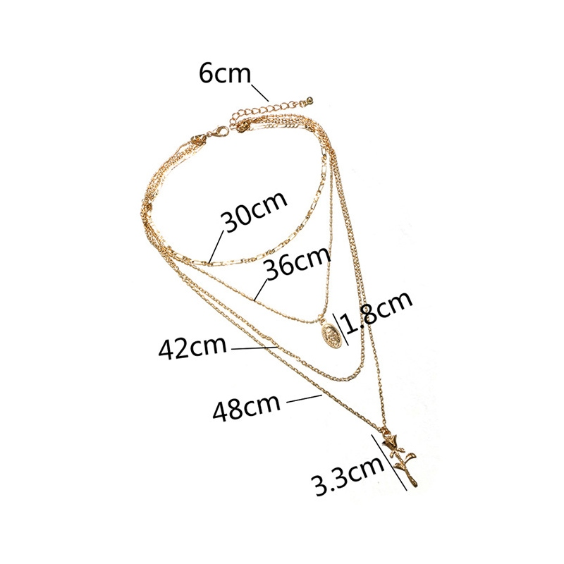 Ericdress Rose Multilayer Necklace