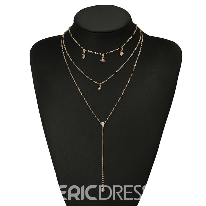 Ericdress Star Golden Layered Necklace