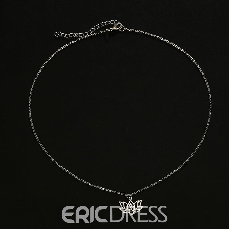 Ericdress Lotus Women Necklace