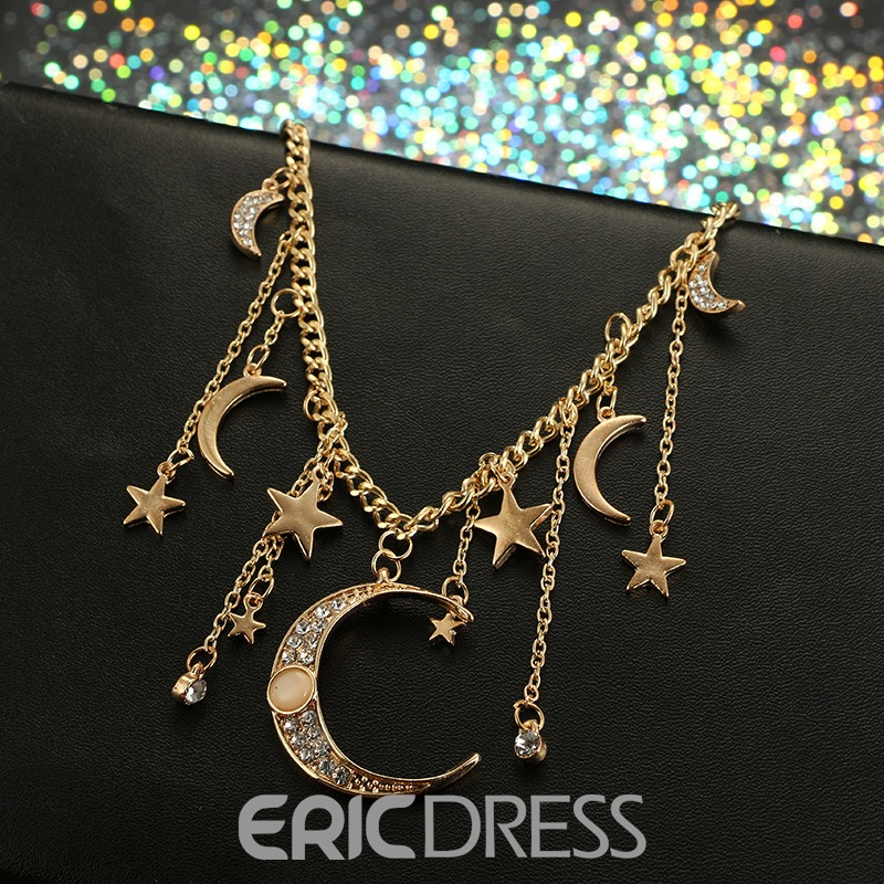Ericdress Star&Moon Necklace