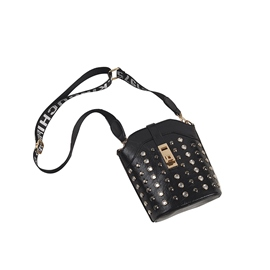 Ericdress Casual Belt Decorated Rivet Crossbody Bag