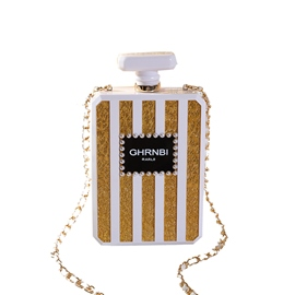 Ericdress Stripe Letter Hasp Chain Crossbody