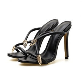 Ericdress Slip-On Cross Stiletto Heel Women's Sandals