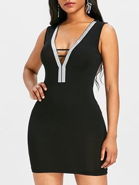 Ericdress Bodycon Backless Women's Dress