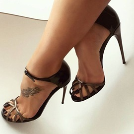 Ericdress Slingback Strap Peep Toe Stiletto Sandals