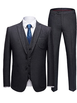 Ericdress Plain Two Button Mens 3 Pieces Casual Business Suits
