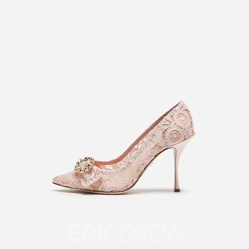 Ericdress Mesh Pointed Toe Stiletto Heel Women's Prom Shoes
