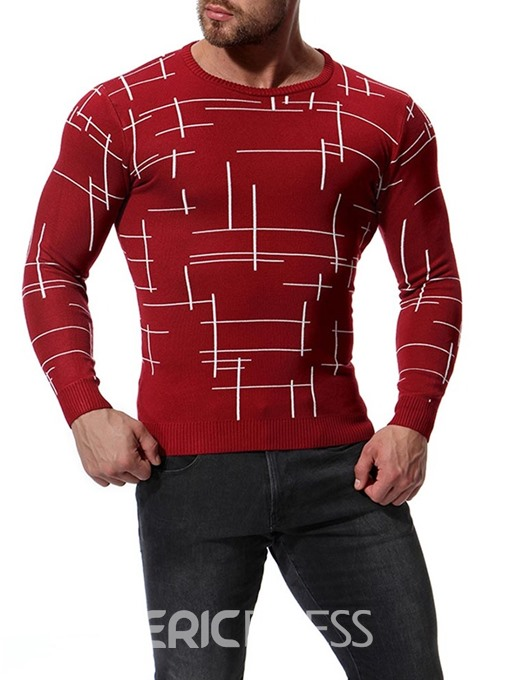 Ericdress Striped Slim Fitted Mens Casual Knitwear Sweaters