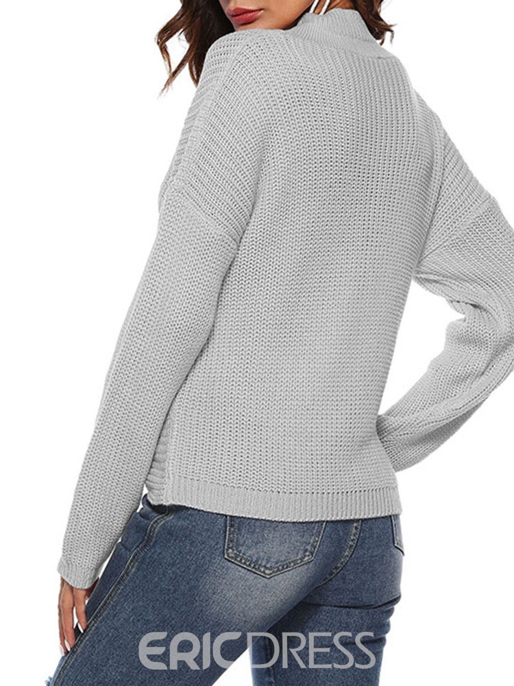 Ericdress Plain Hole Sexy Slim Knitwear