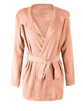 Ericdress Mid-Length Plain Lapel Loose Casual Cardigan