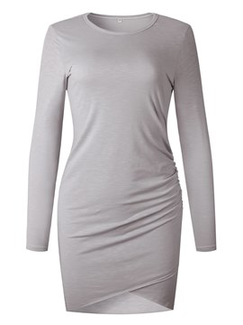 Ericdress Bodycon Plain Casual Women's Dress