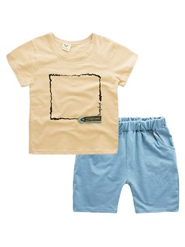 Ericdress Printed T Shirts Shorts Baby Boy's Summer Outfits