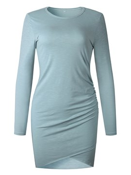 Ericdress Bodycon Plain Pullover Women's Dress