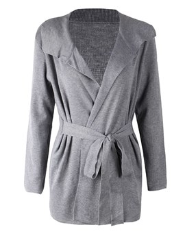 Ericdress Mid-Length Plain Lapel Loose Cardigan