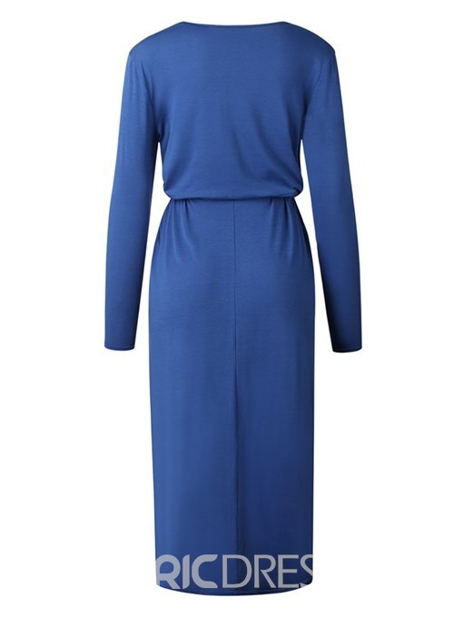 Ericdress Ankle-Length Belt Asymmetrical Women's Dress