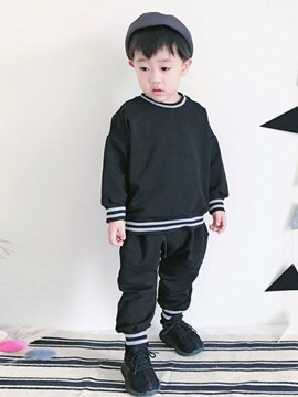 ericdress stripped plain pullover baby sport casual outfits