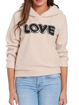 Ericdress Letter Long Sleeves Faux Cool Hoodie