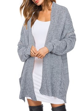 Ericdress Loose Plain Mid-Length Cocoon Cardigan