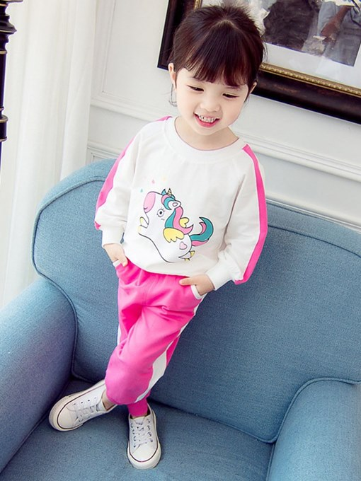 Ericdress Cartoon Animal Printed Baby Girl's Sports Outfits